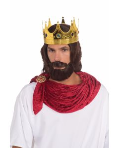 Forum King Jesus Wise Men Moustache 3pc Wig & Beard Set, Brown, One-Size