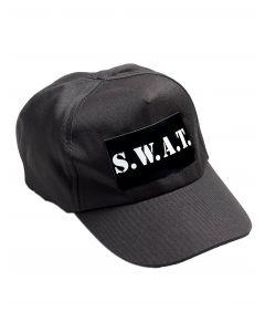 Forum S.W.A.T. Cap Costume Baseball Hat, Black White, One-Size