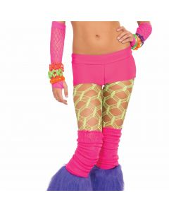 Forum Halloween Cosplay Rave Neon Solid Booty Shorts, Pink, One-Size