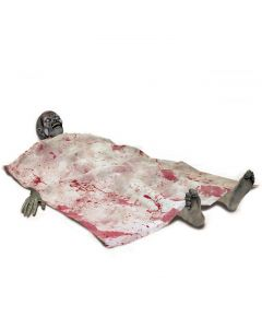 Forum Gore Bloody Death Bed Zombie Decor 5pc 5ft Prop, White Grey Red