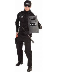 "Forum S.W.A.T. Team Police Costume Riot Shield, Black White, 16"""