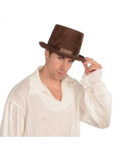 Forum Delux Steampunk Costume Bell Topper Top Hat, Brown, One-Size