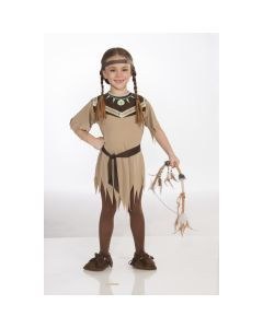 Forum Cute Indian Native American 3pc Child Costume, Brown, Small 4-6