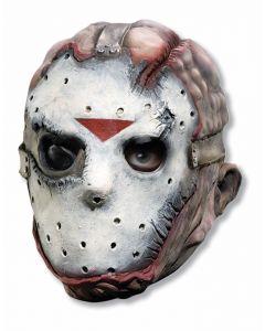 Forum Jason Adult Costume Hockey Vinyl Over Head Mask, White Red Black, One-Size