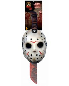 Forum Friday the 13th Jason Vorhees Mask And Machete 2pc Costume Accessory Set