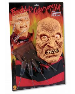 """Forum Men Freddy Krueger Shirt Mask & Glove 3pc Costume, One Size Up To 42"""""""
