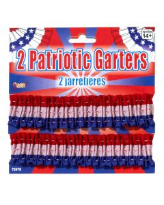 Forum Patriotic Costume Armbands or Garters, Red White Blue, One-Size, 2 Pack