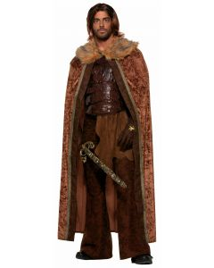 Forum Faux Fur Trimmed Festive Holiday Trimmed Cape, Brown Dark Brown, One-Size