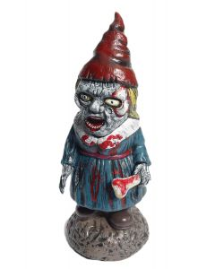 Forum Female Gnome Halloween 16 in Outdoor Prop, Blue Red Grey