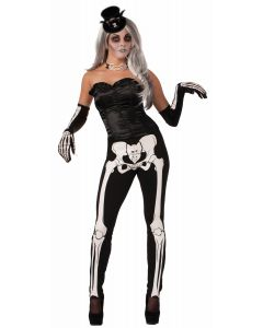 Forum Bone Collection Skeleton Bottoms Leggings, White Black, One-Size