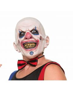 Forum Super Creepy Clown Over Head Mask, White Red Blue, One-Size