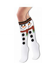 Forum Festive Holiday Cartoon Snowman Christmas Socks, White, One-Size