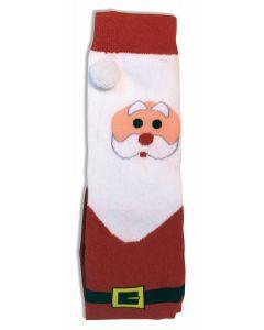 Forum Holiday Cartoon Santa Claus Christmas Socks, Red White, One-Size