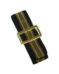 Forum Deluxe Santa Claus Faux Suede Christmas Belt, Black, One-Size