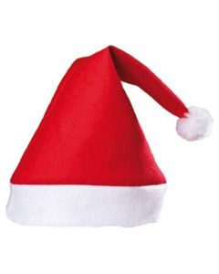 "Classic Felt Santa Claus Christmas Costume Hat, Red White, X-Large 8"" Dia."