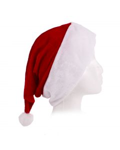Forum Velour Red Velvet Santa Hat White Faux Fur Trim, X-Large 7.5 Dia.