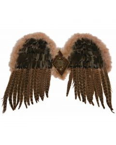 """Forum Exotic Feather Angel Costume Accessory Wings, Brown, O/S 21"""""""
