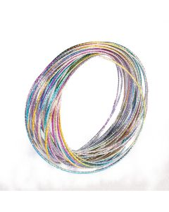 Forum Retro 70s Disco Bangle Costume Bracelet, Rainbow, One-Size