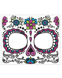 Forum Day Of The Dead Skeleton Female Face Adult Temporary Tattoo