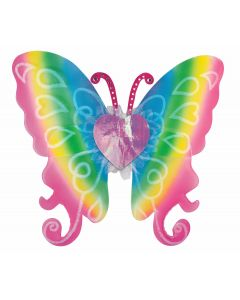 Forum Female Costume Accessory Butterfly Fairy Fluttering Wings, Rainbow, 21""