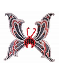 Forum Female Costume Glitter Fairy Sparkling Wings, Silver Black, 30""