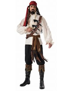 Forum Pirate Gun Shoulder Belt 4pc Costume Weapon Set, Brown Black, One Size