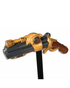 "Forum Halloween Cosplay Steampunk Boomstick Pistol Cane, Gold Grey, 42"" L"