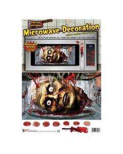 "Forum Haunted House Halloween Decoration Microwaved Head 11""x17"" Microwave Door Cover"