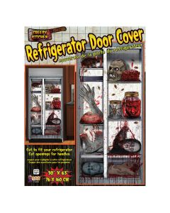 "Forum Severed Body Parts Halloween Refrigerator Door Cover Decoration, 63""x30"""