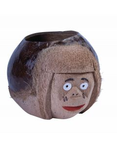 "Forum Monkey Face Real Coconut Cup or Drink Holder, Brown, Approx 4""x5in"