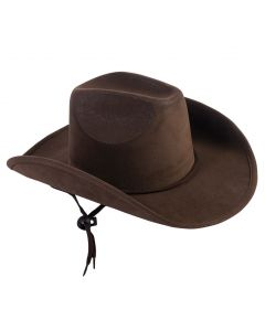 Forum Halloween Cosplay Faux Suede Cowboy Hat, Brown, One-Size