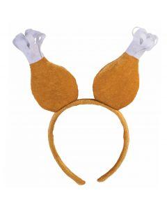 Forum Thanksgiving Turkey Leg Drumstick Headband Boppers, Brown, One-Size