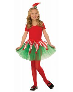 Forum Christmas Candy Cane Tutu Child Costume Skirt, Green Red White, One-Size