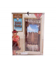 Forum Way Out West Cowboy Saloon Theme Party 5ft Door Cover, Standard Size
