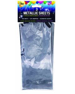 "SKD Metallic Sheets Wrapping 18""x30"" Gift Wrap, Silver, 3 Pack"