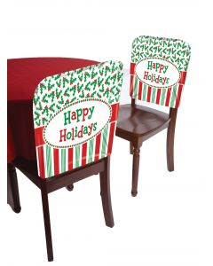 "Forum Christmas Happy Holidays Holly Berries 19""x15"" festive Chair Cover"