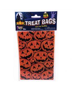"""Forum Pumpkin Ghost Haunted House 6"""" Favor Bags, Orange Black, 40 Pack"""