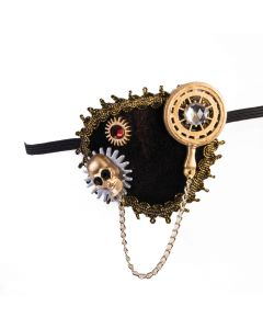 Forum Halloween Cosplay Gears & Skull Deluxe Eye Patch, Brown Gold, One-Size