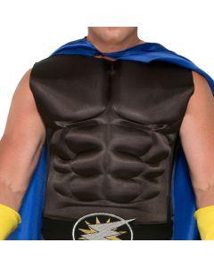 Forum Adult Superhero Muscle Chest Costume Costume Torso, Black, One-Size