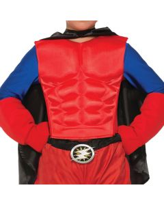 Forum Child Superhero Muscle Chest Costume Costume Torso, Red, One-Size