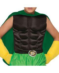Forum Child Superhero Muscle Chest Costume Costume Torso, Black, One-Size