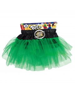 Forum Child Superhero Lightning Bolt Costume Tutu Skirt, Green, One-Size