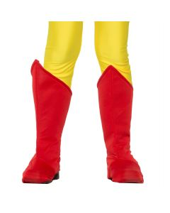 Forum Child Superhero Costume Accessory Angled Boot Covers, Red, One-Size