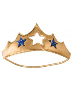 Forum Super Hero Woman of Wonder Halloween Costume Tiara, Gold Blue, One-Size