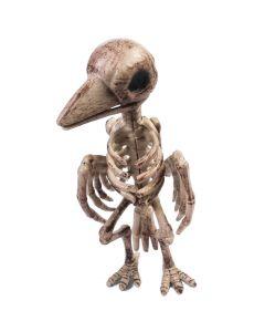 """Forum Deadly Evil Skeleton Raven Halloween 11"""" Decoration Prop, Beige Black"""