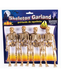 "Forum Halloween Spooky Hanging Killer Skeleton Body 60""x6"" Garland, Tan"