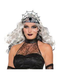 Forum Halloween Spider Web Evil Queen Costume Accessory, Grey Black