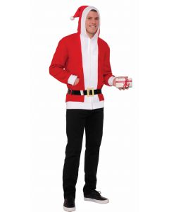 Forum Christmas Santa Costume Hoodie, Red White, X-Large 46-48 Chest