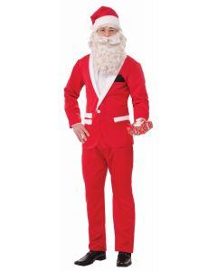 Forum Christmas Fancy Santa Suit 3pc Men Costume, Red White, X-Large 46-48 Chest