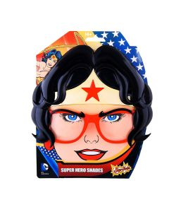 Sunstaches Halloween Wonder Woman Costume Glasses, Black Gold Red, One-Size